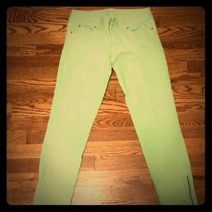 Size 4 Lilly Pulitzer worth skinny mini zip jeans